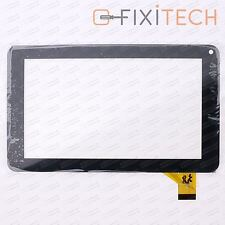Schwarz Touchscreen Glas Digitizer Komp. mit DENVER KINDERTABLET TAQ-70262KBLUE