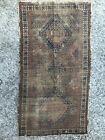 "Antique Rare Caucasian Tribal Area Rug Carpet wool Hand Made 59""x 32""-150cmX81cm"