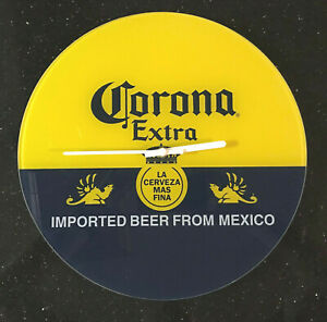 Corona Imported Mexico Beer Cerveza Glass Bottle Label Bar Pub Sign Wall Clock