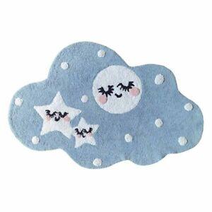 Elsa Blue Night Sky Whimsical Fun Shaped Kids Cotton Floor Rug 70x110cm