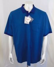 New Denver Hayes 2XLarge Classic Fit Stain Release Treated Blue Polo Golf Shirt