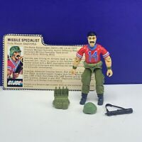 Gi Joe Cobra action figure vtg military Hasbro complete 1985 Bazooka Missile sp