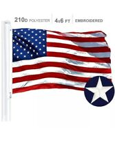 New listing 4'x6' ft, American Flag Us Usa | Embroidered Stars, Sewn Stripes, Brass Grommets