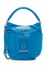 Marc by Marc Jacobs Italian Leather Hobo ID Shoulder Handbag NWT Blue $438 Last!