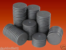 50 Round Disc Magnets 25mm x 3mm Ferrite Ceramic Disk Magnets for Craft & Fridge