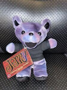 "Grateful Dead Bean Bear Jerry Garcia Liquid Blue 1998 Plush Collectible 8"""