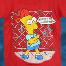 NOS vintage 1990 BART SIMPSON HOMEBOY THE SIMPSONS YOUTH T-Shirt hip hop cartoon
