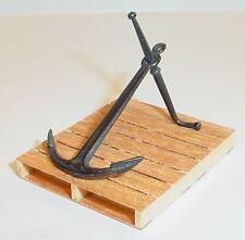 Boat Anchor (L) w Drag Bar Miniature Diecast 1/24 Scale G Scale Diorama Accessor