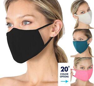 [2 pcs] Soft Cotton Face Mask Double Layer Reusable Cloth Washable Color