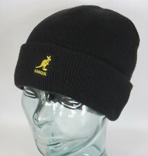 Kangol Cuff Pull On Knitted Wool Hat Winter Hat Beanie Cap Black New