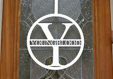 Metal Door or Wall Initial with Name / Circular / Monogram / Optional Hanger