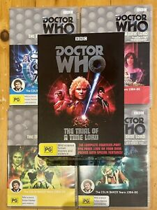 DOCTOR WHO - The Trial Of A Time Lord 4 DVD Box Set Collection & Book BBC Sealed
