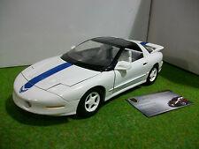 PONTIAC TRANS AM coupe blanc à bande bleu echelle 1/18 ERTL voiture miniature