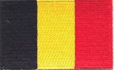 "BELGIUM FLAG Iron On Patch 2 1/2"""