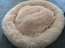 Pet Dog Cat Calming Bed Comfy Warm Fluffy Bed Nest Mattress Donut 100cm Diameter