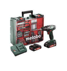 Metabo BS10,8Akku-Bohrschrauber SET mit 2x 12V 2,0 Ah + Lader + Mobile Werkstatt