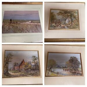 Original Water colours Michael Crawley, countryside Signed derbyshire job lot 23