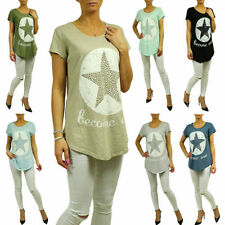 Normalgröße mit Sterne Kurzarm Damenblusen, - tops & -shirts