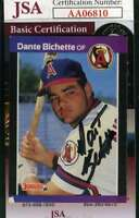 Dante Bichette 1990 Donruss Rookie Jsa Coa Hand Signed Authentic Autograph