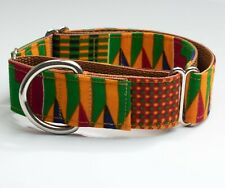 African Kent Print Adjustable Martingale/Whippet,Greyhound & Sighthound Collar