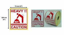 Heavy Caution 25mm Core Roll Labels Choose Quantity
