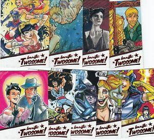 2018 Cryptozoic DC Comics Bombshells TWOSOME 9 Card Complete Insert Set