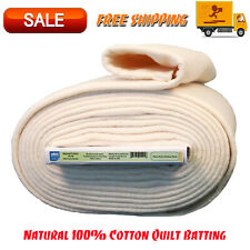 "Natural Cotton Quilt Batting W/ Stabilizing Scrim Binder, 96"" Wide, 9 Yard Bolt"
