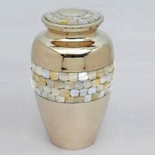 Classic Mother of Pearl- Adult Brass Memorial Urn - Great Deal!!