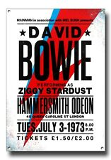 DAVID BOWIE CONCERT POSTER METAL SIGN. A4 SIZE,CLASSIC MUSIC.ICONIC MUSIC ARTIST
