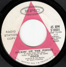 RARE 1969 POCO PROMO 45~PICKIN' UP THE PIECES~EPIC 10501~VG++ to NEAR MINT