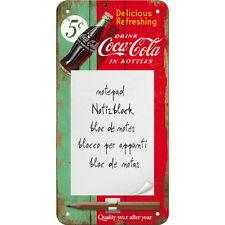 COCA COLA Magnetschild - Notizblock und Stift Delicious Refreshing NEU OVP