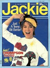 JACKIE MAGAZINE #1063 THOMPSON TWINS COLOUR POSTER, SWANS WAY, KEITH DELLER