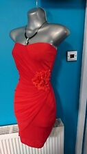 £90 Jane Norman Christmas Party dress 10 m Red wedding evening bodycon prom gown