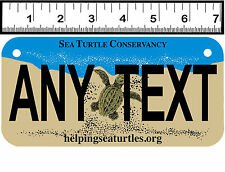 CUSTOM PERSONALIZED ALUMINUM MOTORCYCLE STATE LICENSE PLATE-FLORIDA SEA TURTLES