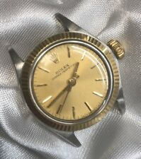 1948 ROLEX OYSTER PERPETUAL REF. 6719 LADIES VINTAGE TWO-TONE WATCH 100% AUTH