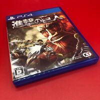 """Attack on Titan """"Shingeki no Kyojin"""" PS4 Japan Import Used (Tested and Works)"""
