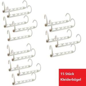15x Kleiderbügel Wäschebügel Kunststoff Hosensteg Hosenstange Anti Rutsch DE