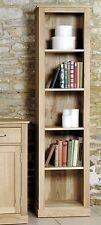 MoBEL Solid Oak Furniture Narrow Living Room Bookcase COR01D