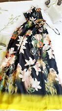 Ted Baker Opulent Bloom Print Maxi Dress size 4 UK 14 BNWT 🌈
