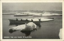 Boating Among the Ice Floes in Alaska AK Postcard