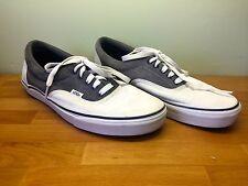 Vans Para hombres Zapatos de lona era & Gamuza Blanco y Gris Reino Unido Reino Unido 9.5 Excelente Estado