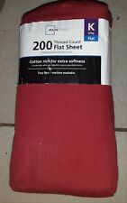 Mainstays 200 Thread Count Flat Sheet red king