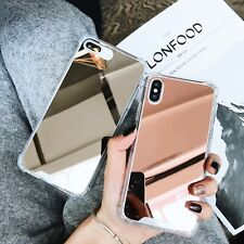 De lujo de diamantes caso de Cristal Cubierta de espejo de maquillaje lindo para iPhone 11 Pro XS Max 7 8+