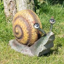 Large 33cm Metal Rural Snail Garden Ornament Outdoor Sculpture Statue Figurine