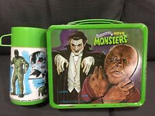 Vintage 1979 Aladdin Universal Movie Monsters Metal Lunchbox w/ Thermos