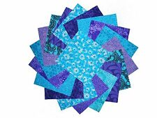 """10 10X10"""" Quilting LAYER CAKE Squares Twilight/Shades of Purple&Blue"""