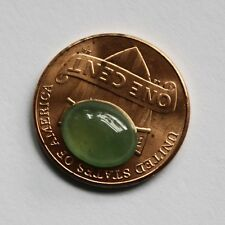 "Certified ""Grade A"" 100% Natural Icy Green Jadeite JADE Oval Cabochon #C025"