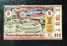1967 WORLD SERIES TICKET GAME 5  BOSTON @ ST LOUIS