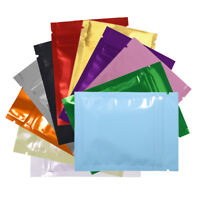 Variety of Colors for 100 PCS Shiny Metallic Mylar Resealable Bags