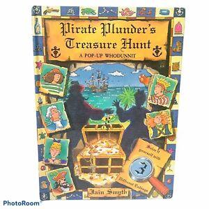 Vintage Pirate Plunder's Treasure Hunt.A Pop-up Book by Iain Smyth Hardback Rare